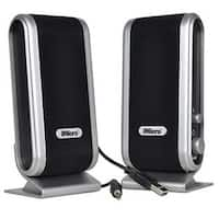 2-Piece 2 Channel USB Powered Multimedia Speaker Set with Headphon