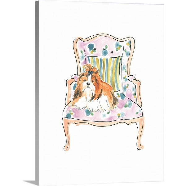 June Erica Vess Solid-Faced Canvas Print entitled Petite Chien II