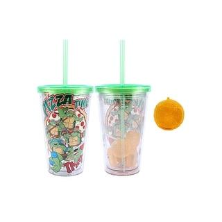 Ninja Turtles 16 oz Plastic Cold Cup w/ Ice Cubes