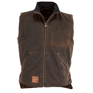 Outback Trading Vest Mens Tough Sawbuck Oilskin Hunting Zipper 2143