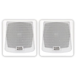 Acoustic Audio AA051W Mountable Indoor or Outdoor Speakers White Pair