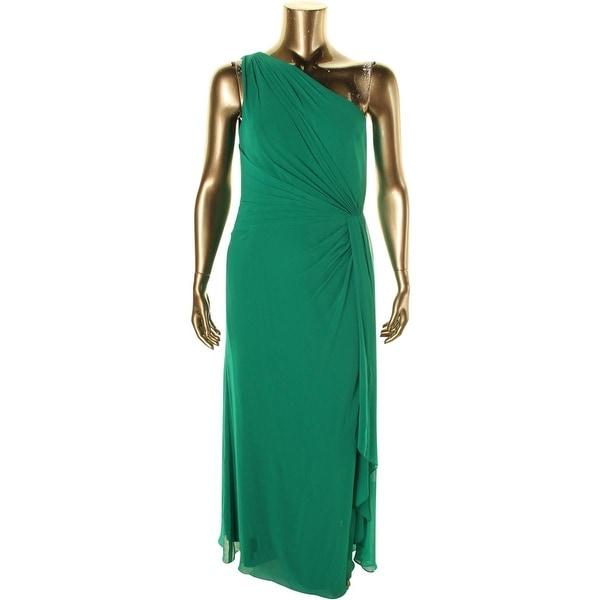 Lauren Ralph Lauren Womens Chiffon Pleated Evening Dress   14