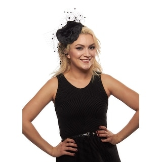 Rosalie Fascinator Cocktail Hat with Blossom