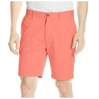Nautica NEW Coral Pink Mens Size 38 Flat Front Deck Chino Shorts