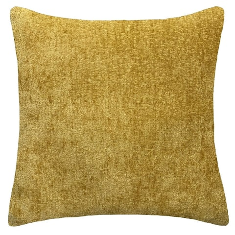 Rodeo Home Samson Decorative Solid Color Chenille Square Throw Pillow