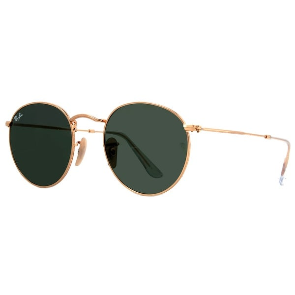 Ray Ban RB 3447 001 50mm Gold Classic G-15 Retro Round Metal Sunglasses - 50mm-21mm-145mm