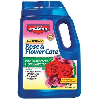 Bayer Advanced 708210A 2 In 1 Systemic Rose & Flower Care Plant Food, 10 Lbs