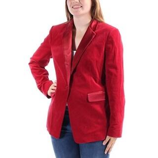 MICHAEL KORS $355 Womens New 1321 Red Blazer Casual Jacket 4 B+B
