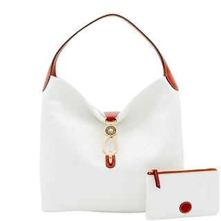 Dooney & Bourke Pebble Grain Logo Lock Shoulder Bag (Introduced by Dooney & Bourke at $298 in Feb 2017) - White