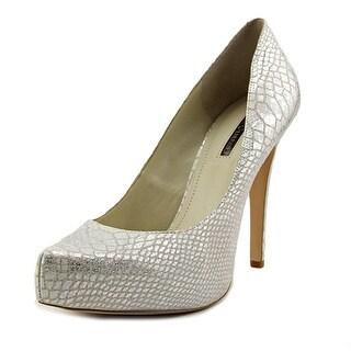 BCBGeneration Parade Women Open Toe Synthetic Silver Platform Heel