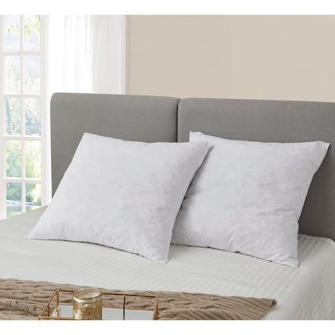 European Square 26 x 26 Inch Feather Pillows (Set of 2) - White