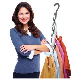 Wonder Hanger Max 10 Pack Easy Closet Space Saver for Wrinkle Free Clothes - Cascading Hangers Holds Up To 30 lbs. Each