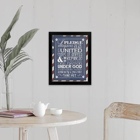 """""""Pledge Of Allegiance"""" Black Framed Print"""