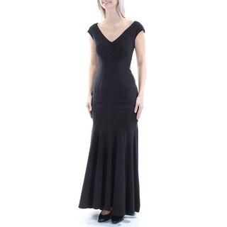 Link to BETSY & ADAM Womens Black Sleeveless Full Length Formal Dress  Size 4 Similar Items in Petites