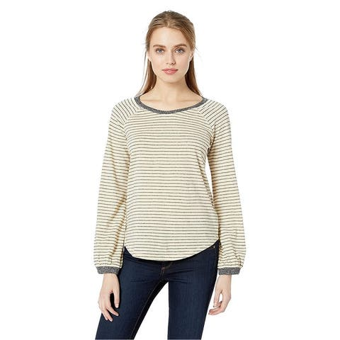 Lucky Brand Womens Dropped Shoulder Basic T-Shirt