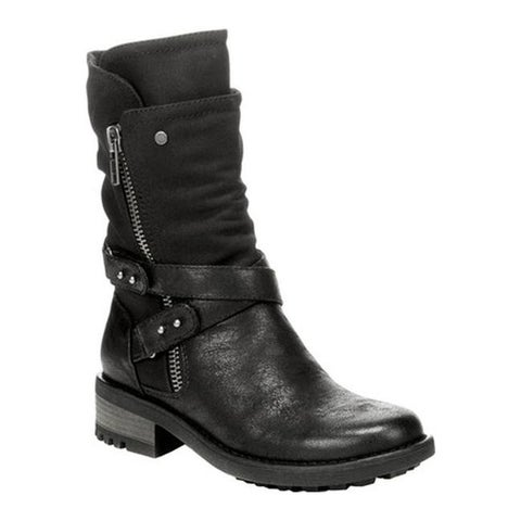 Carlos by Carlos Santana Women's Sawyer Boot Black Manmade Leather