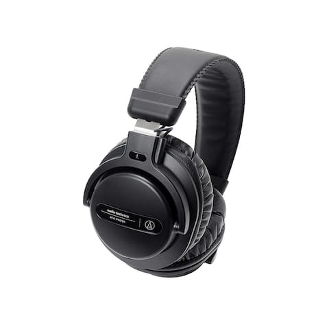 Audio-Technica Professional Over-Ear Closed-Back Dynamic DJ Monitor Headphones, Black