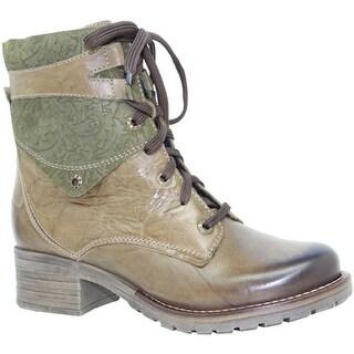 Dromedaris Women's Kara Print Boot Olive Leather