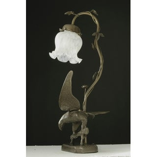 19 Inch H Strike Of The Eagle White Accent Lamp