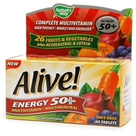 Alive! Energy 50+ Multivitamin 60 ea