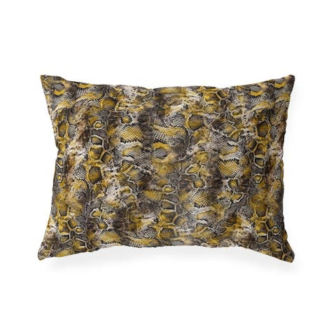 VIPER YELLOW Indoor Outdoor Lumbar Pillow by Kavka Designs - 20X14