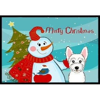 Carolines Treasures BB1846JMAT Snowman With Westie Indoor & Outdoor Mat 24 x 36 in.