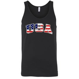 Men's Tank Top USA Flag Pride Stars & Stripes Proud To be an American Old Glory