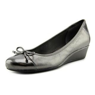 Easy Spirit Davalyn Women Round Toe Leather Gray Flats