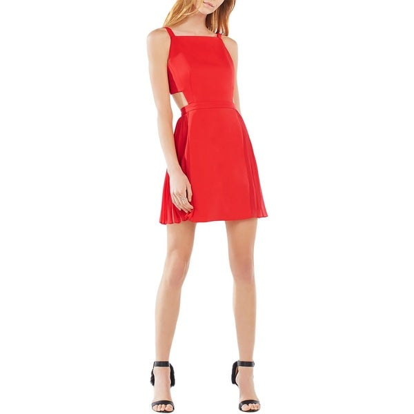 e6a49a6c52 Shop BCBG Max Azria Womens Brielle Party Dress Open Back Pleated - Free  Shipping Today - Overstock - 17157196