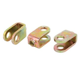M8 Female Thread 45# Steel U Shaped Gas Spring Mounting Joint Bronze Tone 3pcs