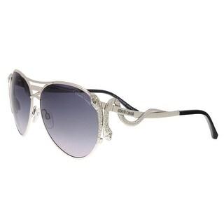 Roberto Cavalli RC909S 16B Mimosa Silver Aviator Sunglasses - 62-14-135