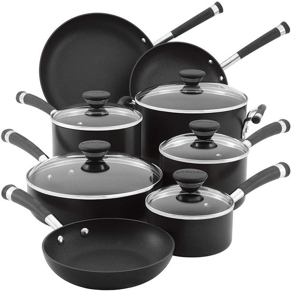 Circulon Acclaim Hard Anodized Nonstick Cookware Pots and Pans Set, 13 Piece, Black. Opens flyout.