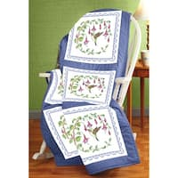 "Stamped Cross Stitch Quilt Blocks 18""X18"" 6/Pkg-Hummingbird"