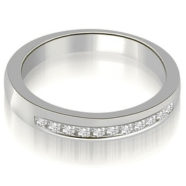 0.25 cttw. 14K White Gold Classic Channel Round Cut Diamond Wedding Band