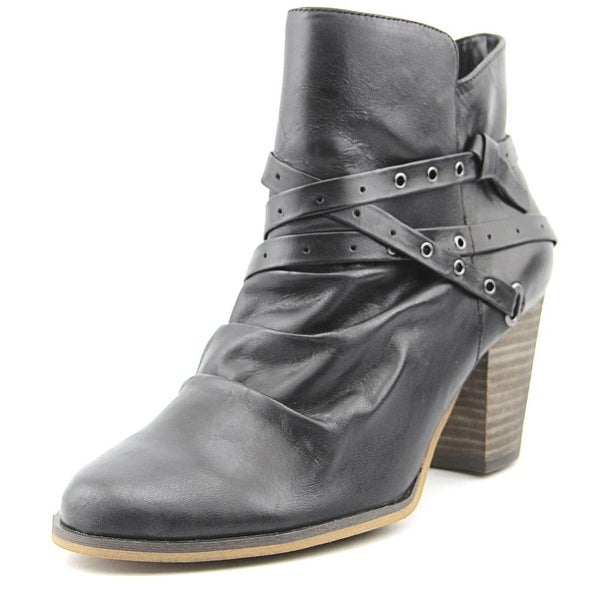 Bella Vita Kiki Women W Round Toe Leather Black Ankle Boot