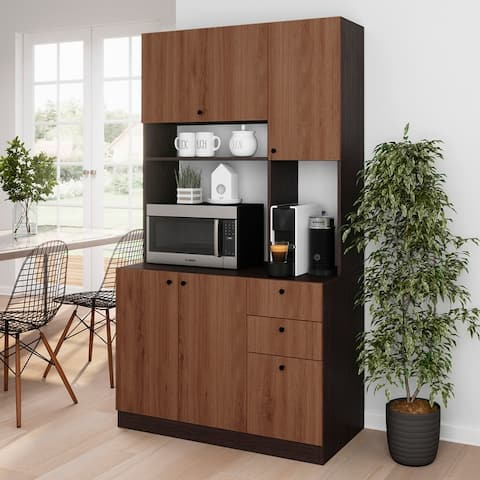 Living Skog Pantry Kitchen Storage Cabinet White Large For Microwave