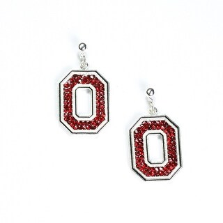 Ohio State University Crystal Dangle Earrings