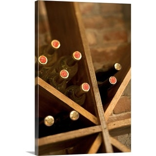 """Wine rack"" Canvas Wall Art"