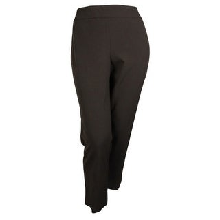 JM Collection Women's Comfort Waist Slim Leg Pant