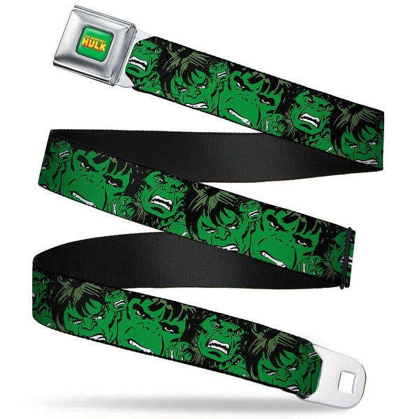 Marvel Comics the Hulk Full Color The Hulk Stacked Webbing Seatbelt Belt Seatbelt Belt