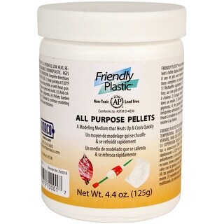 Friendly Plastic Pellets 4.4Oz-Ivory