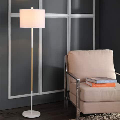 """SAFAVIEH Lighting 59-inch Melrose White LED Floor Lamp - 14"""" x 14"""" x 58.5"""""""