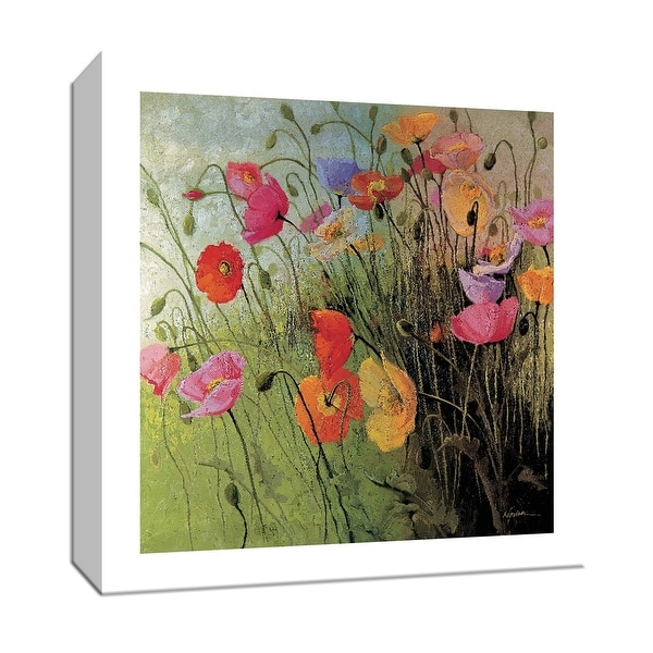 """PTM Images 9-153249 PTM Canvas Collection 12"""" x 12"""" - """"Meadow Dance"""" Giclee Flowers Art Print on Canvas"""