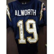 Signed Alworth Lance San Diego Chargers San Diego Chargers Authentic Jersey Size 44 Small piece in