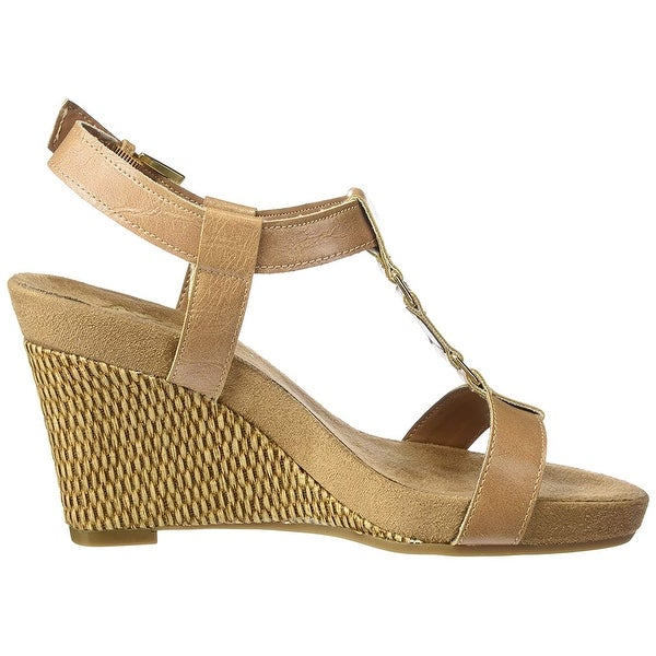 Women/'s A2 Aerosoles Wedge Sandals White New!! Plush Nite