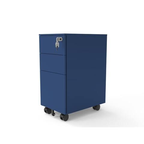 Furniture of America Owen Matte Lockable 3-Drawer Mobile File Cabinet
