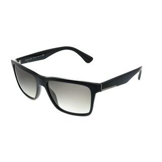 Prada Conceptual PR 19SS 1AB0A7 Unisex Black Frame Grey Gradient Lens Sunglasses