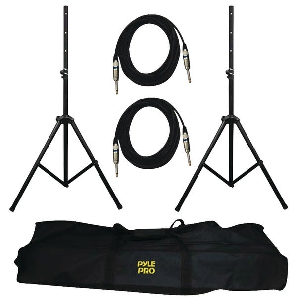 PYLE PRO PMDK102 Heavy-Duty Pro Audio Speaker Stand & 1/4'' Cable Kit