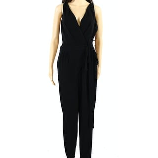 Lauren Ralph Lauren NEW Black Womens Size Large L V-Neck Jumpsuit
