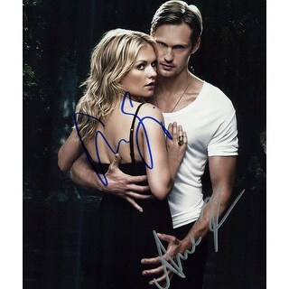Signed True Blood Anna Paquin Stephen Moyer 8x10 Photo by Anna Paquin and Stephen Moyer autographe